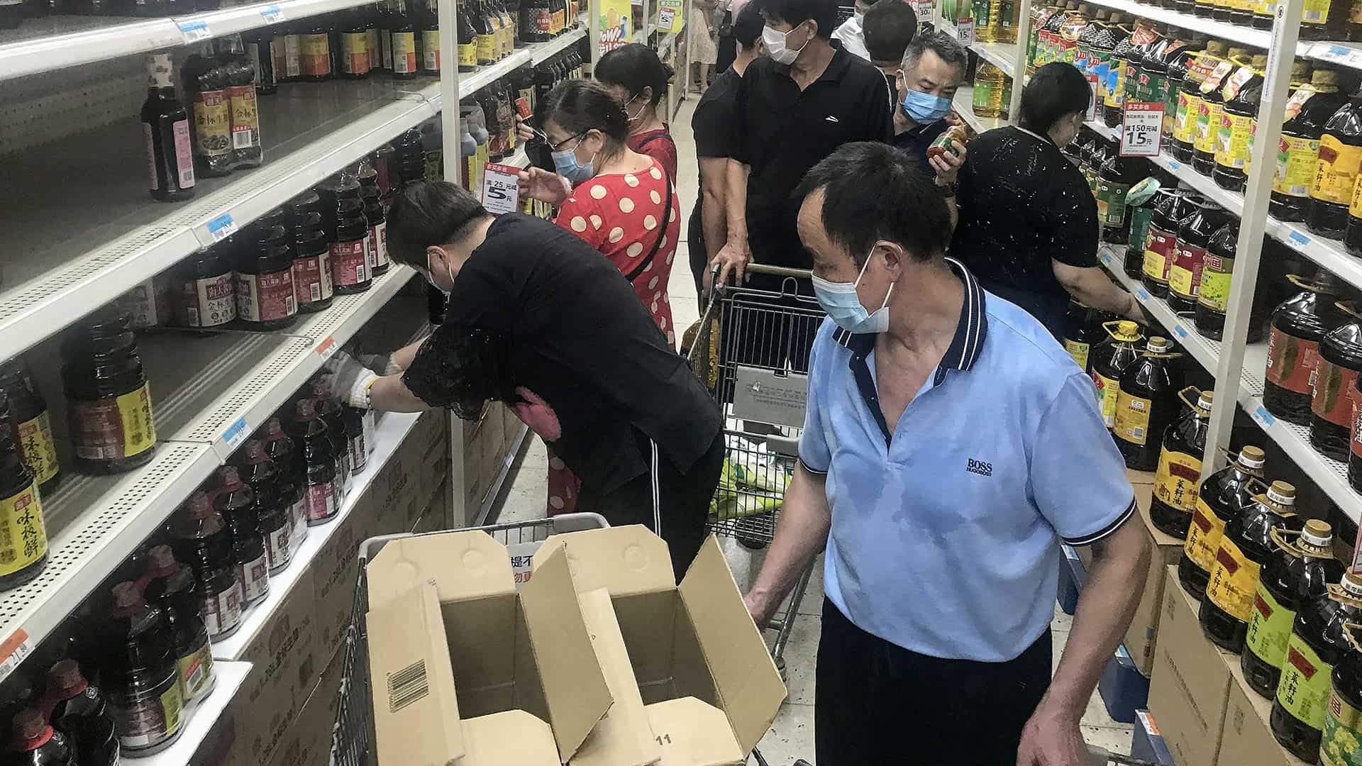 Supermarché - Wuhan, Chine